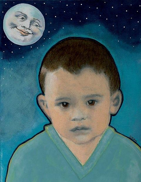 Art: The Moon, The Stars, and a Boy-Sold by Artist Sherry Key