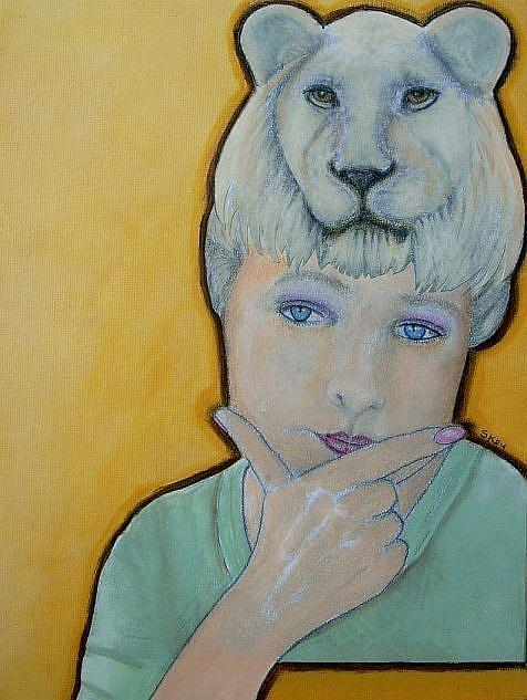Art: I Am Leo by Artist Sherry Key