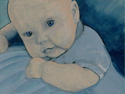 Art: Baby Cooper-29 Faces by Artist Sherry Key