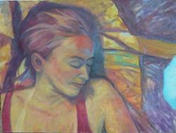 Art: Self Portrait by Artist Virginia Ann Zuelsdorf