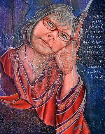 Art: Self Portrait: 51 Uncut by Artist Alma Lee