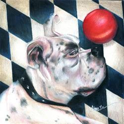 Art: Capt. Tiberius, Harlequin Boxer by Artist Alma Lee