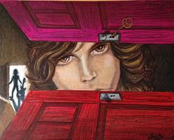 Art: The Doors of Jim Morrison by Artist Alma Lee