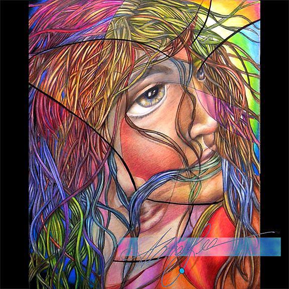 Art: King David Danced (Sold) by Artist Alma Lee