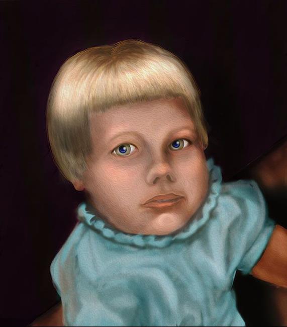 Art: Alma Lee: as a Child by Artist Alma Lee