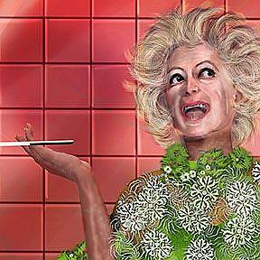 Detail Image for art HA!: Portrait of Phyllis Diller