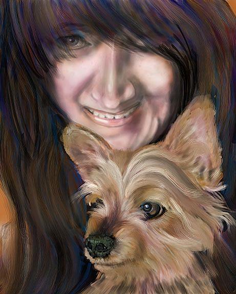 Art: LeeAnn paint 1.jpg by Artist Alma Lee