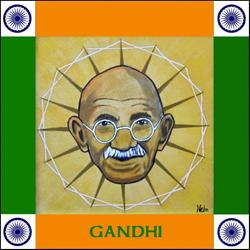 Art: Gandhi by Artist Paul Helm