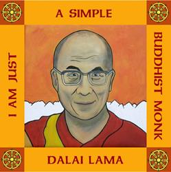 Art: Dalai Lama by Artist Paul Helm