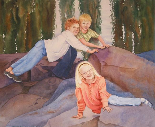 Art: Riordan Kids SOLD by Artist Kathy Haney