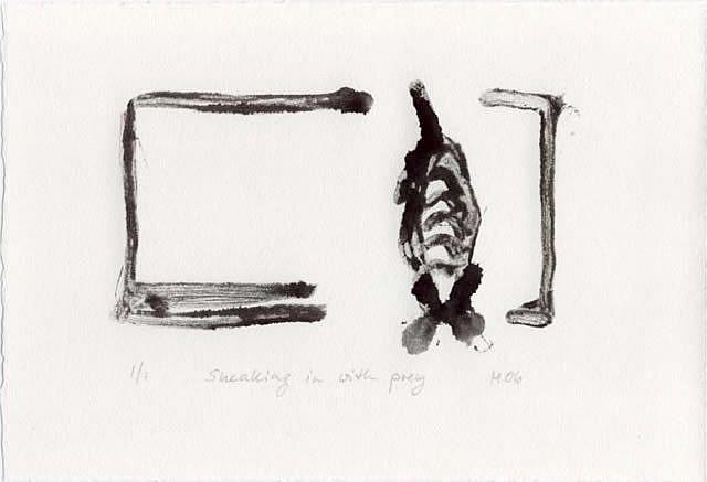 Art: Sneaking in with Prey by Artist Gabriele Maurus