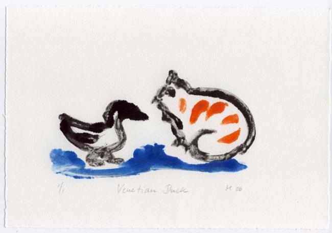 Art: Venetian Duck by Artist Gabriele Maurus