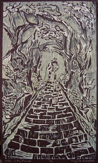 Art: Bilbo in the Forest by Artist Virginia Ann Zuelsdorf