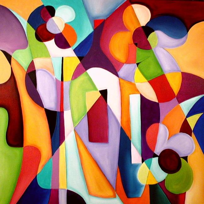 Cubist 7p - by Thomas C. Fedro from Contemporary Cubism Art Gallery