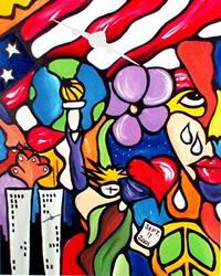 Art: God Bless America by Artist Thomas C. Fedro