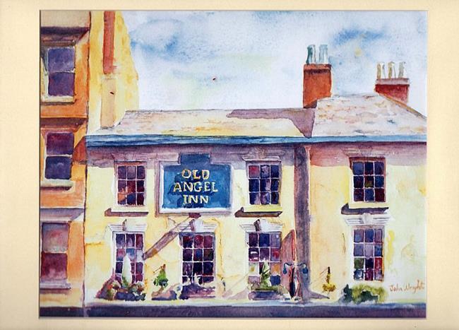 Art: Old Angel Inn, Lace Market, Nottingham by Artist John Wright