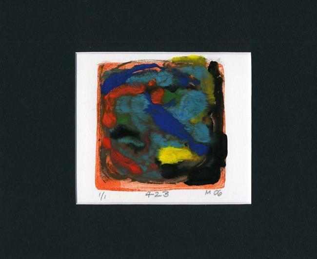 Art: Monoprint 423 by Artist Gabriele Maurus