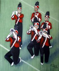 Art: 2002 Ezell-Harding Christian School Band  (Salvation is Created) by Artist Rita C. Ford
