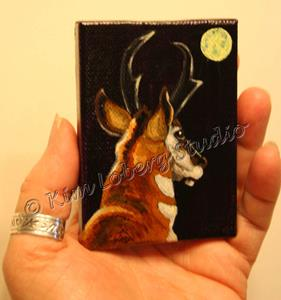 Detail Image for art Pronghorn in the Moon-Light