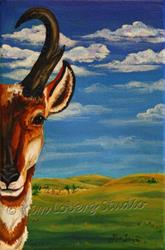 Art: And the Antelope Plays by Artist Kim Loberg