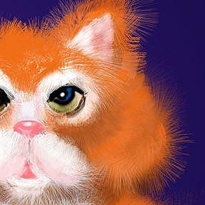 "Detail Image for art Orange Tabby PuffyButtonsâ""¢"