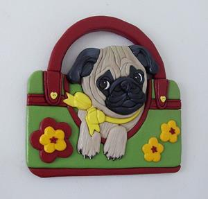 Detail Image for art Pug Puppy..