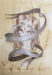 Art: Ribbonette Grey by Artist Saskia Franken-Saers