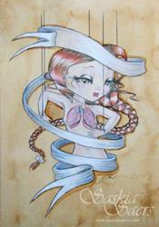 Art: Ribbonette Pearl White by Artist Saskia Franken-Saers