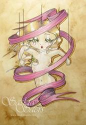 Art: Ribbonette Pink by Artist Saskia Franken-Saers