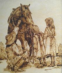 Art: Making Friends by Artist Shirley James