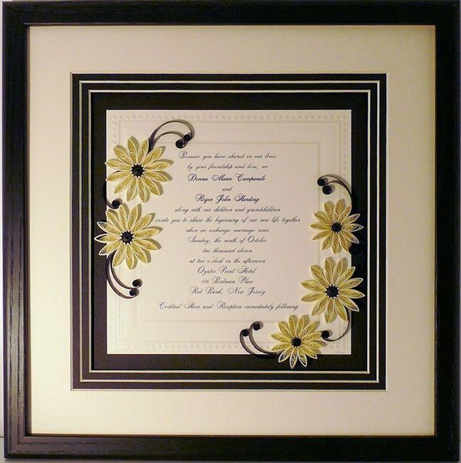 Quilled custom wedding invitation keepsake by sandra j white from art quilled custom wedding invitation keepsake by artist sandra j white stopboris Images