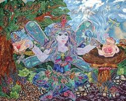 Art: A Faerie's Tea Party by Artist Wendy L Feldmann