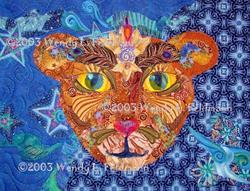 Art: The Cosmic Lion by Artist Wendy L Feldmann