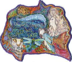 Art: Quilt Guild ID Tag by Artist Wendy L Feldmann