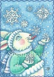 Art: SNOWFLAKES ARE DELICIOUS by Artist Susan Brack