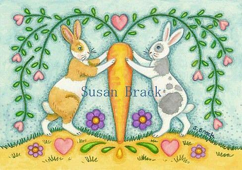 Art: RABBIT SAMPLER by Artist Susan Brack
