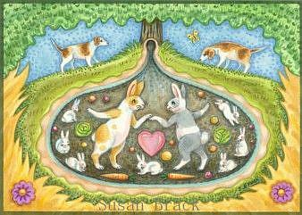 Art: DOWN THE RABBIT HOLE by Artist Susan Brack