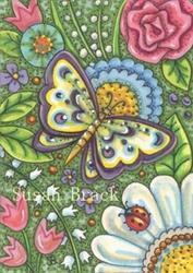 Art: BUTTERFLY POTPOURRI by Artist Susan Brack