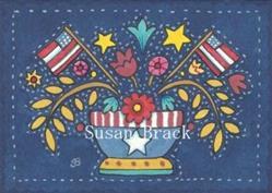 Art: AMERICANA APPLIQUE BOWL Quilt Block by Artist Susan Brack