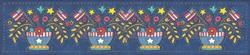 Art: AMERICANA APPLIQUE BOWL BORDER X 4 by Artist Susan Brack