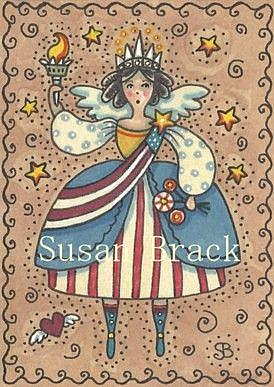 Art: AMERICANA ANGEL LIBERTY by Artist Susan Brack