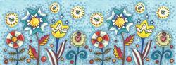 Art: FOURTH OF JULY GARDEN Repeat 2 by Artist Susan Brack