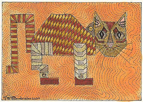 Art: ROBO CAT PAL by Artist Theodora Demetriades