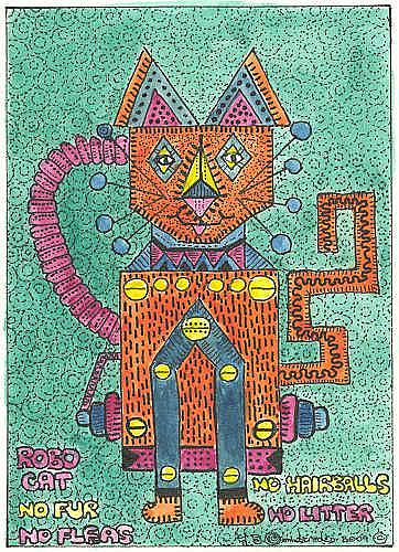 Art: ROBO CAT by Artist Theodora Demetriades