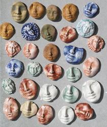 Art: face shard lot by Artist Deborah Sprague
