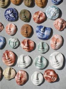 Detail Image for art face shard lot
