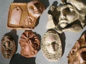 Detail Image for art Large face shard tile lot