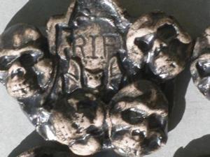 Detail Image for art Skull Halloween Tile shard lot