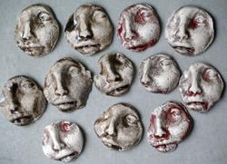 Art: Face Shard tiles by Artist Deborah Sprague