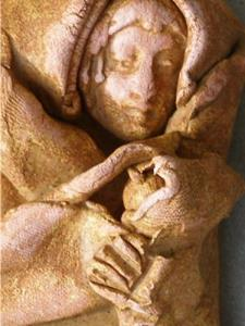 Detail Image for art Mother and Child Ornament